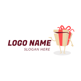 Anthropomorphic Brown Gift logo design