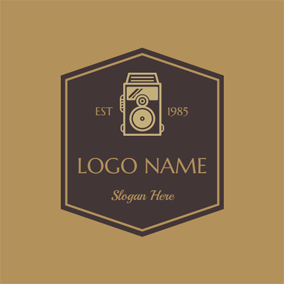 Antique Black Camera logo design