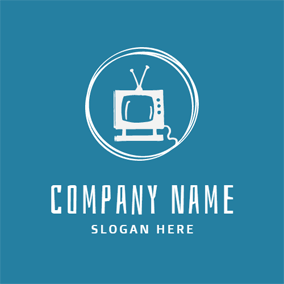 Antique White Tv logo design