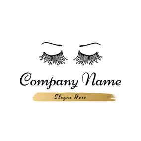 Arch Eyebrow and Eyelash logo design