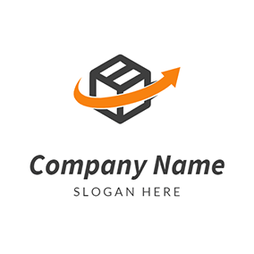 Arrow Box Delivery Courier logo design