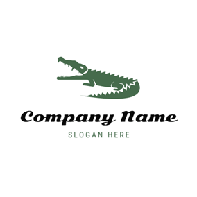 Atrocious Green Alligator logo design