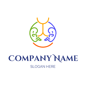 Baby Mother Line Twins logo design