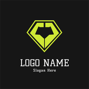 Badge and Abstract Arm logo design
