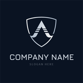 Badge and Alpha Symbol logo design