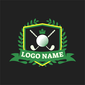 Badge and Ball Arm logo design