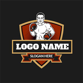 Badge and Boxer logo design