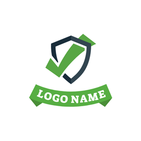 Badge and Check Symbol logo design