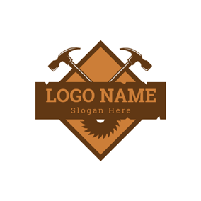 Badge and Cross Hammer logo design