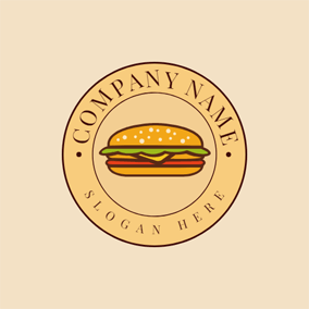 Badge and Double Sandwich logo design
