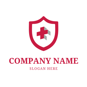 Badge and Red Cross logo design