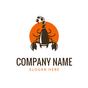 Badge and Scorpion Icon logo design