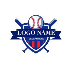 Badge and Softball logo design