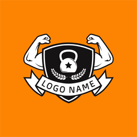 Badge and Strong Arm logo design