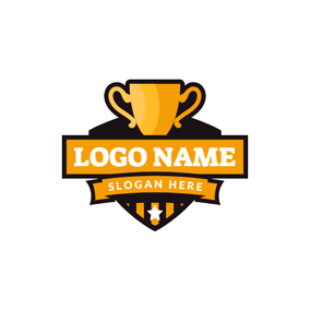 Badge and Tournament Trophy logo design
