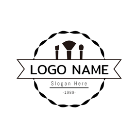 Badge and Various Make Up Tool logo design