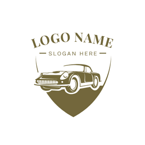 Badge and Vintage Car logo design