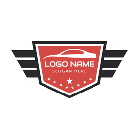 Badge and White Car logo design
