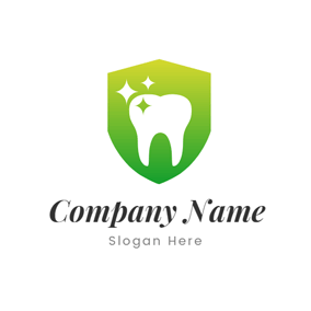 Badge and White Tooth logo design