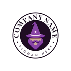 Badge and Wizard Logo logo design