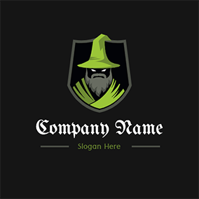 Badge and Wizard logo design