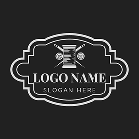 Badge Button Bobbin Handmade logo design