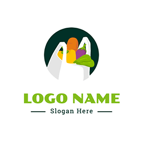 Bag Vegetable Grocery logo design