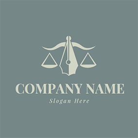 Balance Outline Judgement Lawyer logo design