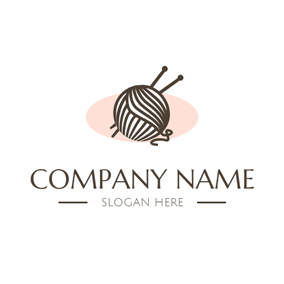 Ball Of Thread and Needle logo design