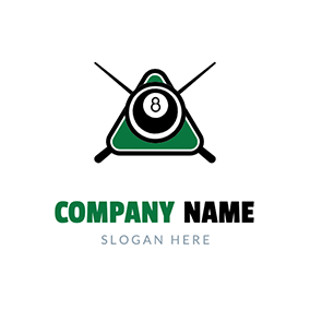 Ball Pool Table logo design