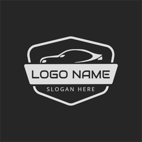 Banner and Abstract Car logo design