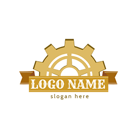 Banner and Gear logo design