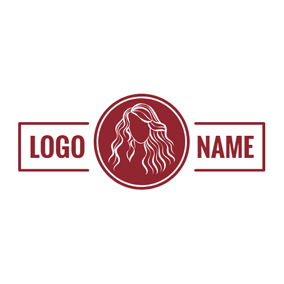 Banner and Stylish Hairstyle logo design