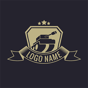 Banner and Tank Logo logo design