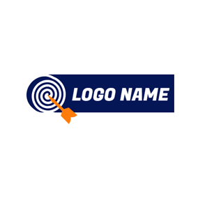 Banner Arrow and Simple Target logo design