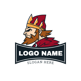 Barbarian Knight and Banner logo design