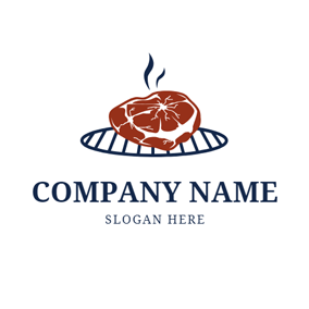 Barbecue and Grill Icon logo design