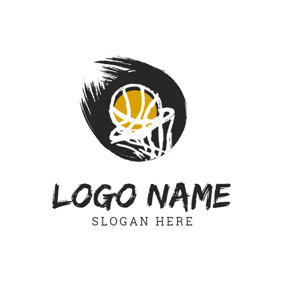 Basketball Net and Basketball logo design