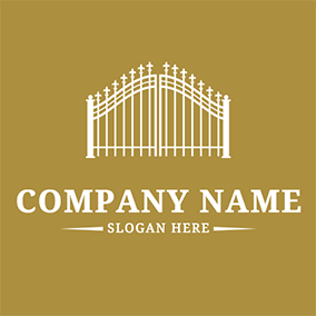 Beautiful and Simple Gate logo design