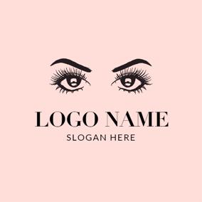 Beautiful Eye and Eyelash logo design