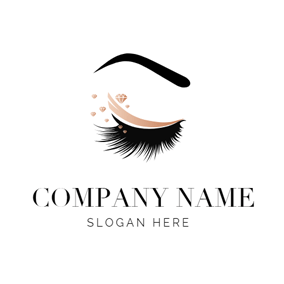 Beautiful Eyebrow and Eyelash logo design