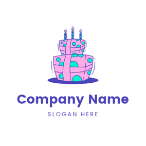 Beautiful Gift and Birthday Cake logo design