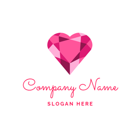 Beautiful Heart and Ruby logo design