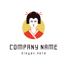 Beautiful Japanese Women logo design
