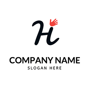 Beautiful Letter H Hand Hello logo design