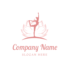 Beautiful Lotus and Yoga Woman logo design