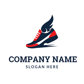 Beautiful Running Shoe logo design