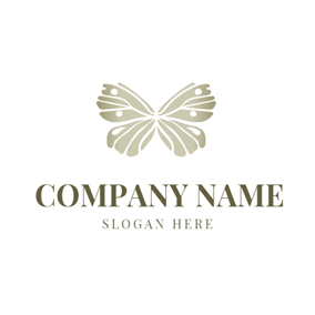 Beautiful Wing and Butterfly logo design