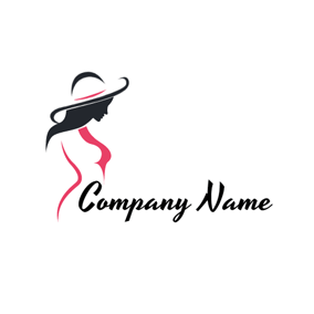 Beautiful Woman Model logo design