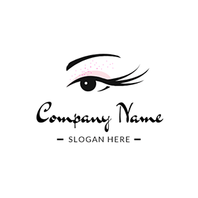Beauty Makeup and Long Eyelash logo design